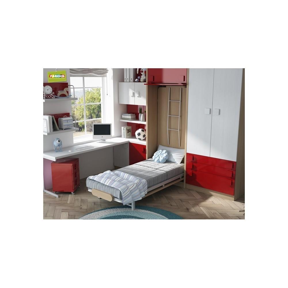 Dormitorios con literas abatibles verticales con tatami - Dormitorios con literas ...